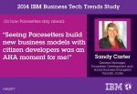 (On how Pacesetters stay ahead) Sandy Carter, General Manager, Ecosystem Development, IBM