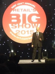 Terry Jones at NRF15 (Image credit - @IBMSocialBiz)