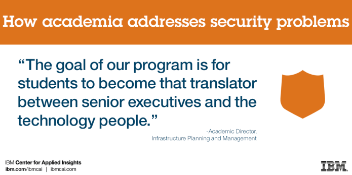 CISO Academia quote - The goal of our program is for students to become that translator between senior executives and the technology people.