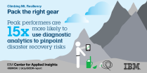Leading disaster recovery teams are more likely to use analytics to pinpoint DR risk