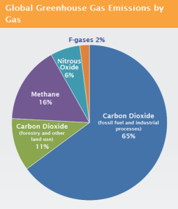 Global emissions by gas (Source: US Environmental Protection Agency)